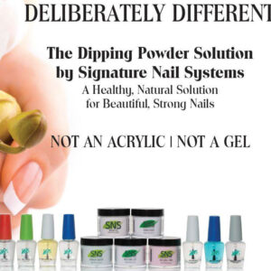 SNS is natural and healthy to your real nails, unlike gel or acrylic.