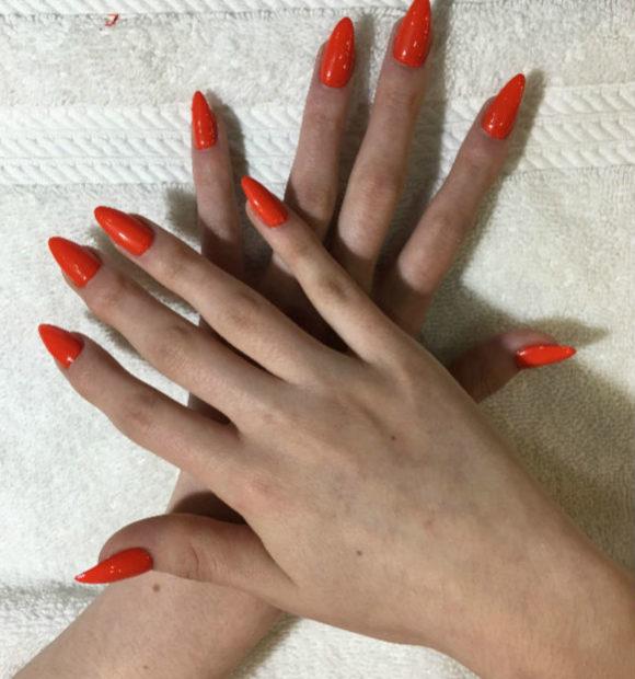 Acrylic Nails Point Shape